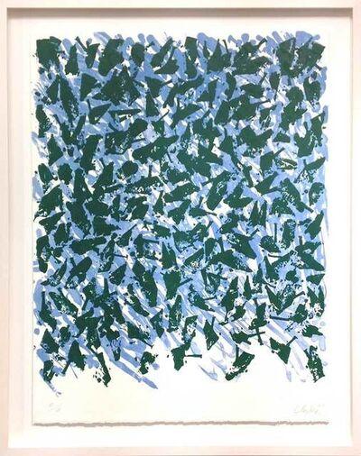 Günther Uecker, 'Schwebend blau-grün/ Floating blue-green', 2003