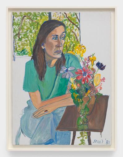 Alice Neel, 'Nancy with Flowers', 1981
