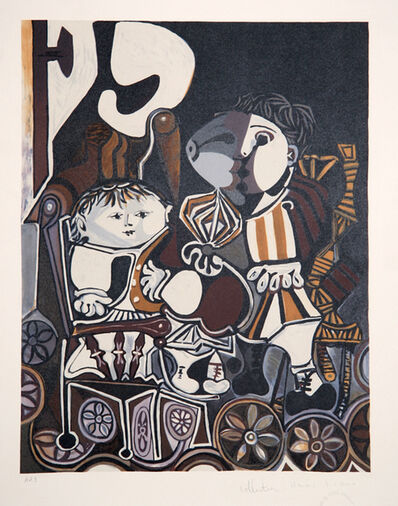 Pablo Picasso, 'Claude et Paloma', 1973-originally created in 1950