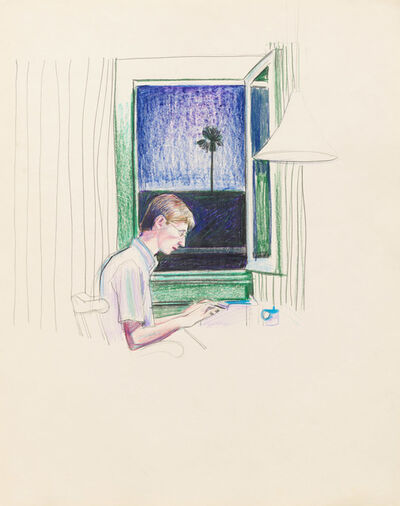 Patrick Angus, 'Boy in Window with Palm Tree', 1980