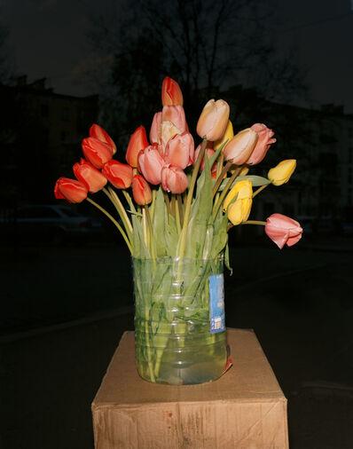 Lia Darjes, 'Stilleben mit Tulpenstrauss, Kaliningrad', 2016