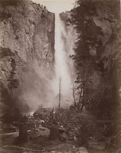 William Henry Jackson, 'The Bridal Veil, Yosemite', 1880s