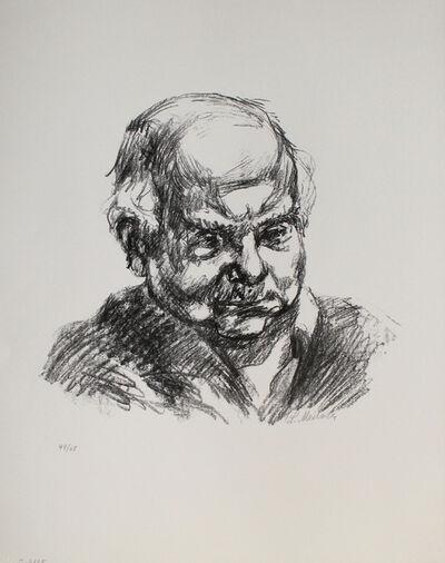 Ludwig Meidner, 'Selbstbildnis nach rechts', 1965