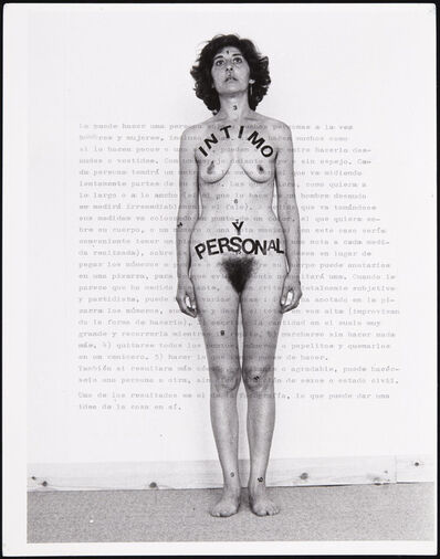 Esther Ferrer, 'Íntimo y personal (Intimate and Personal)', 1977