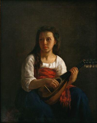 Mary Cassatt, 'The Mandolin Player', 1868