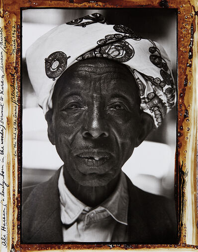 "Peter Beard, 'Ali Hassan (""a lonely horn in the woods"") Servant to Karan Blixen, Nairobi Kenya for the End of the Game', 1962"
