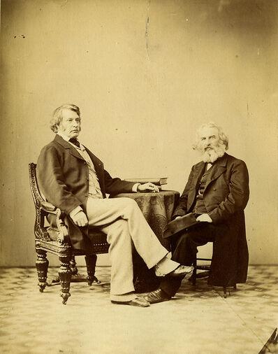 Alexander Gardner, 'Charles Sumner and Longfellow', 1863