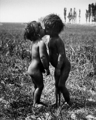 André Kertész, 'Gypsy Children Kissing, Esztergom, Hungary', 1917