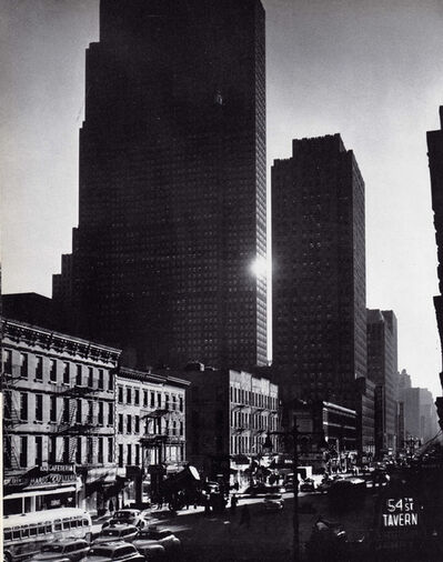 Andreas Feininger, 'New York City, (54th St. Tavern sign in foreground), NY', 1948