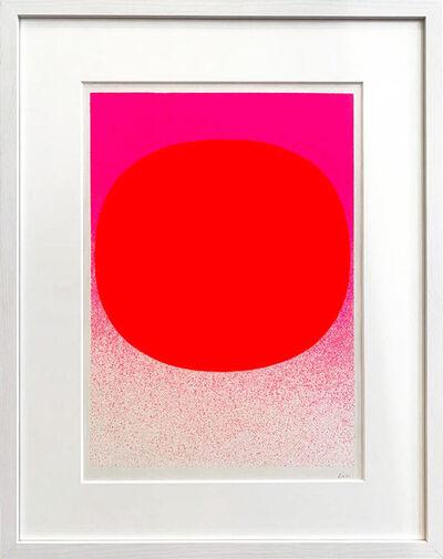 Rupprecht Geiger, 'Variation Runde Farbe II Leuchtrot auf Pink Verlauf', 1968
