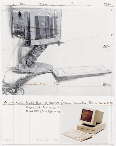 Christo, 'Ericson Display Monitor Unit 3111, Wrapped, Project for Personal Computer', 1985