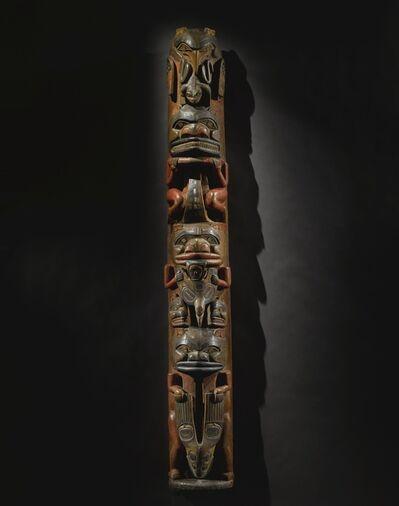 anonymous Tlingit artist, 'MODEL TOTEM POLE (N4319)', late 19th century