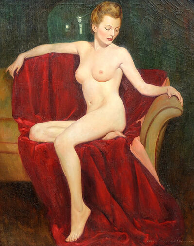 John Newton Howitt, 'Portrait of a Nude Blonde'