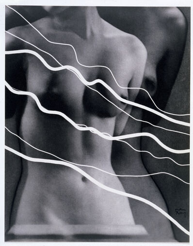 Man Ray, 'Electricité  [Image of Lee Miller with photograms of ribbons representing electric current ]', 1931