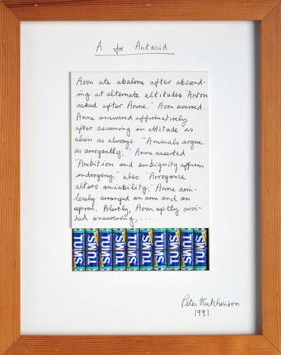 Peter Arthur Hutchinson, 'A for Antacid', 1991
