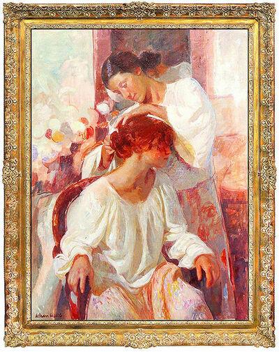 Beltran Bofill, 'Beltran Bofill Large Original Oil Painting on Canvas Female Portrait Signed Art', 20th Century