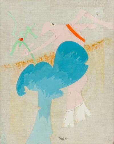 Emilio Tadini, 'Personaggio in un giardino', 1966