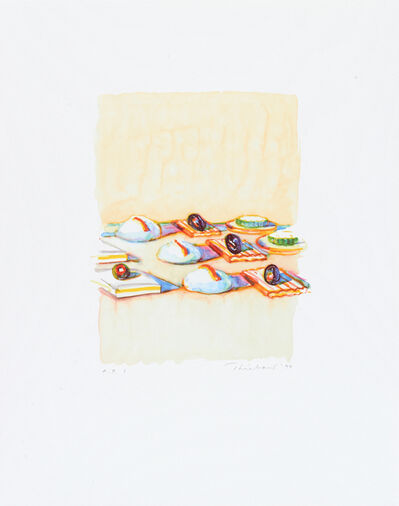 Wayne Thiebaud, 'Appetizers', 1994