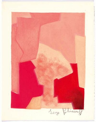 Serge Poliakoff, 'Composition rose', 1964
