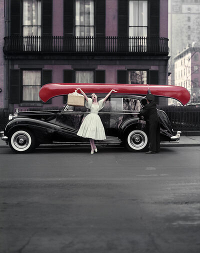 William Helburn, 'Red Canoe, Barbara Mullen, NY', 1957
