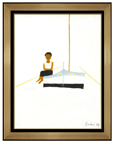 Nicola Simbari, 'Nicola Simbari Original Acrylic Painting Female Portrait Nautical Signed Artwork', 1959