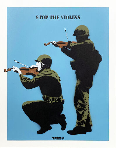 TABBY, ''Stop the Violins' (blue)', 2020