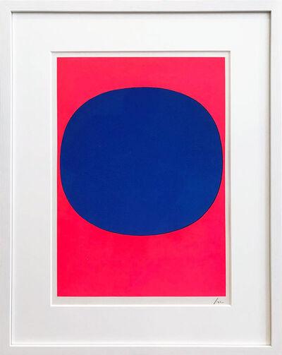 Rupprecht Geiger, 'Variation Runde Farbe IV- blau auf leuchtrot', 1968