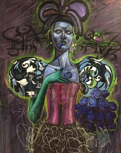 Patrick Boussignac, 'Mangeuse de roses bleues', 2012