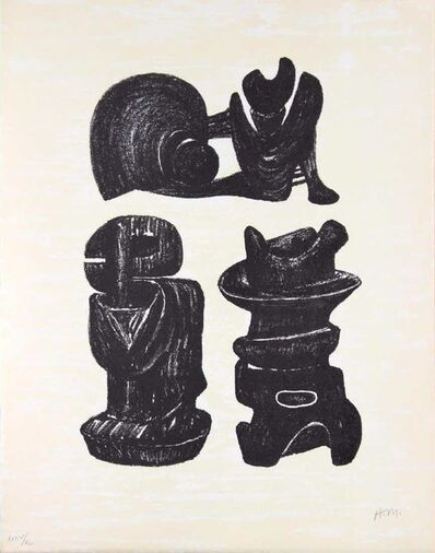 Henry Moore, 'Three sculptural forms', 1976