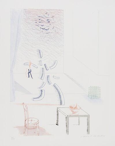 David Hockney, 'Tick it, tock it, turn it true (S.A.C 192)', 1976-77
