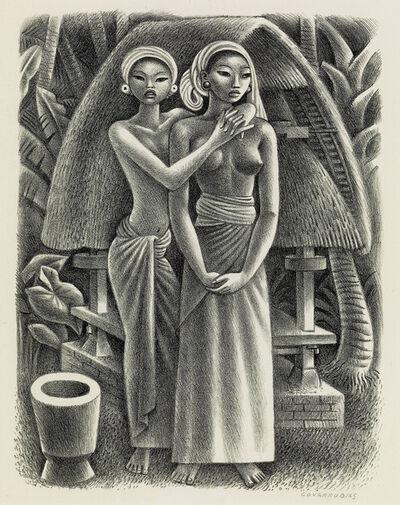 Miguel Covarrubias, 'Rice Granary, Bali.', circa 1943
