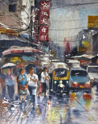 Attasit Pokpong, 'Walking in the Rain', 2006