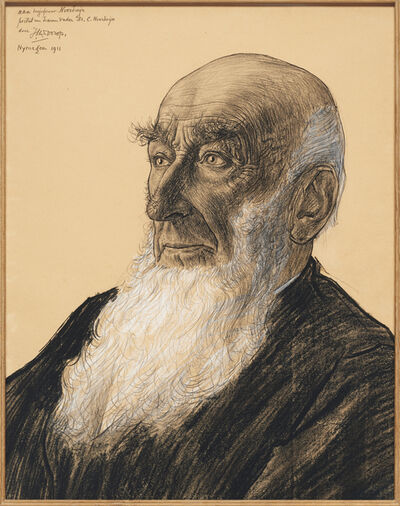 Jan Toorop, 'Portrait of Dr. Claes Noorduijn', 1911