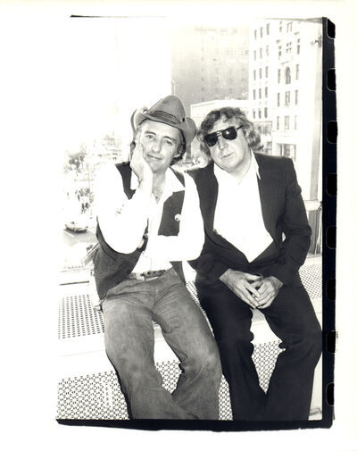 Andy Warhol, 'Andy Warhol, Photograph of Dennis Hopper and Gerry Rothenberg, 1977', 1977