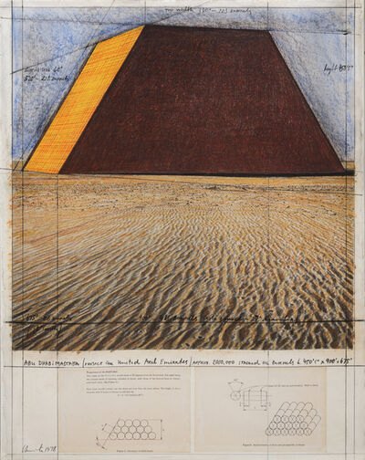 Christo and Jeanne-Claude, 'Abu Dhabi Mastaba (Project for United Arab Emirates)', 1978