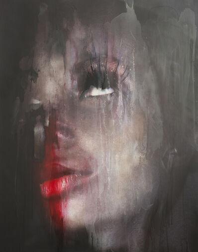 Corinna Holthusen, 'Mund Gesicht rot // Mouth Face red', 2018