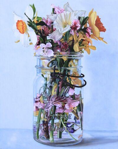 Peggie Blizard, 'Pink Flowers in Water', 2019