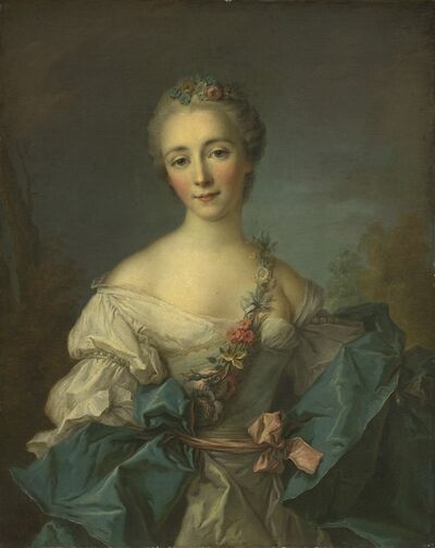 After Jean-Marc Nattier, 'Portrait of a Young Woman', 1750/1760