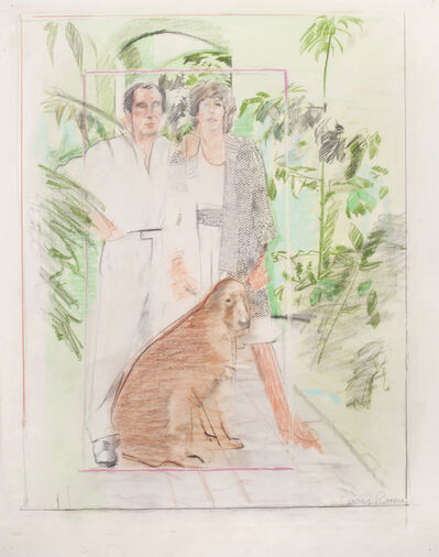 Larry Rivers, 'Untitled (Joe and Patsy LoGuidice at the Casa Luna)', ca. 1970-1975