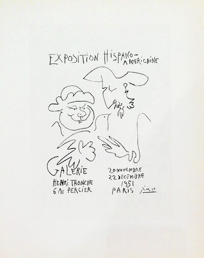 Pablo Picasso, 'Exposition - Hispano Americaine (zoom in)', 1959