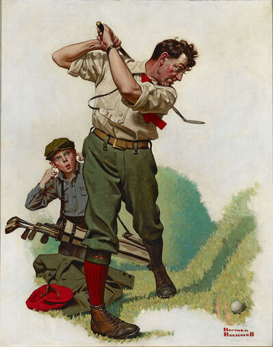 Norman Rockwell, 'The Golfer', ca. 1920