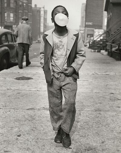 Marvin E. Newman, 'Boy Blowing Bubble Gum', 1951