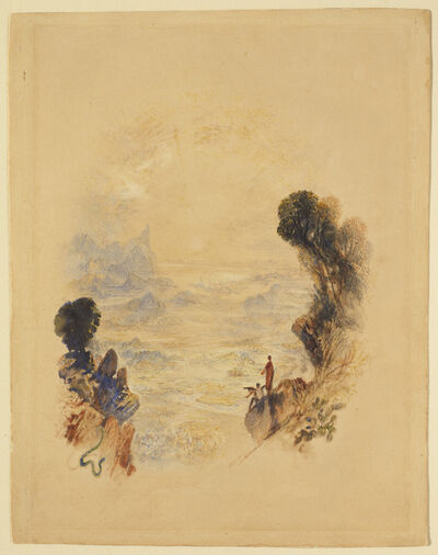 J. M. W. Turner, 'The Temptation of Christ on the Mountain', ca. 1834