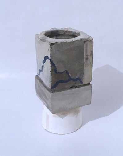 Dena Paige Fischer, 'Layered Cube Votive Sculpture (sky)', 2020