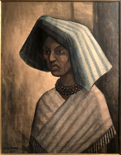 Diego Rivera, 'Portrait of a Mexican Woman', 1947