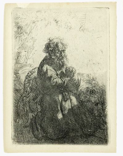 Rembrandt van Rijn, 'St. Jerome Kneeling in Prayer', 1835