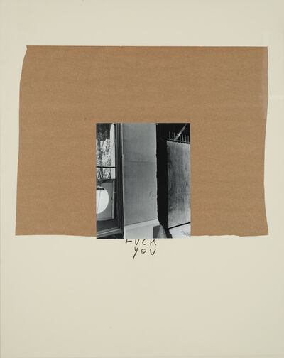 John Gossage, 'Fuck You', 1989