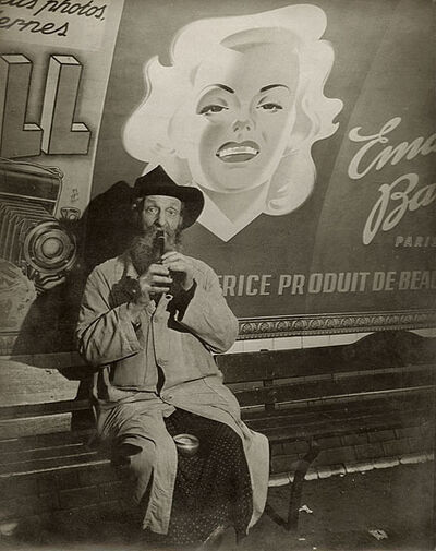 Brassaï, 'Beggar in the Metro, Paris', 1938/1938c