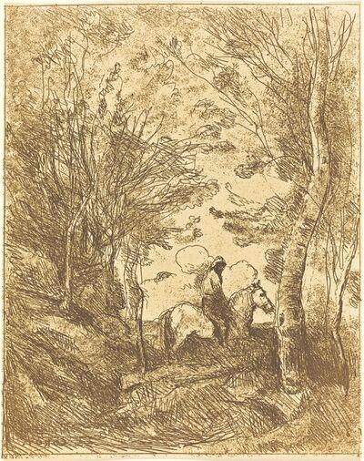 Jean-Baptiste-Camille Corot, 'Horseman in the Woods, Large Plate (Le Grand Cavalier sous bois)', ca. 1854
