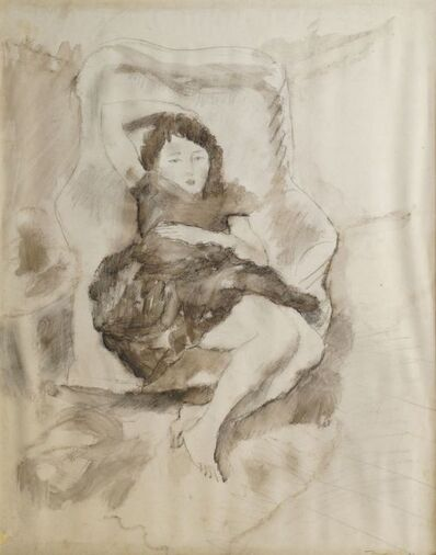 Jules Pascin, 'Study of a woman reclining full-length'